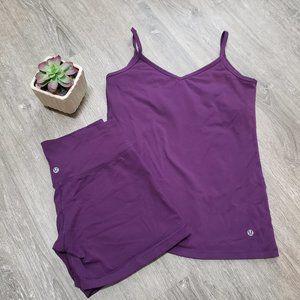 Lululemon Set Shorts & Tank Size 6 / 8 Eggplant